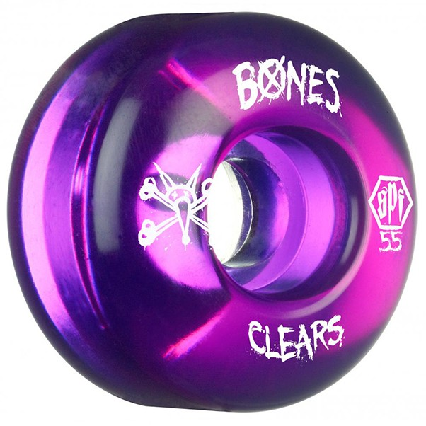 Bones SPF Clears Purple Skateboard Wheels 55mm