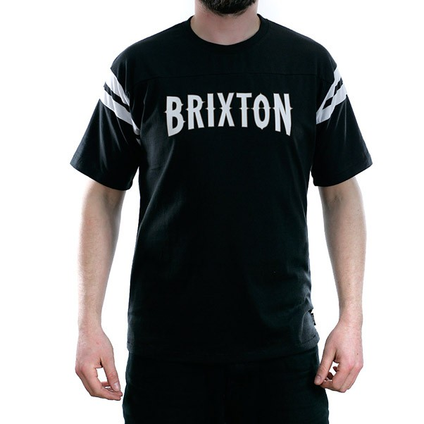 Brixton Benson Knit T-Shirt Black White