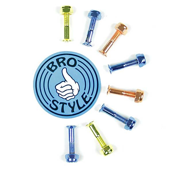 Bro Style coloured skateboard Bolts