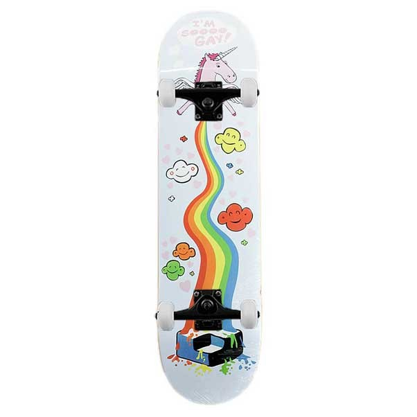 Consolidated So Gay Complete Skateboard 8""