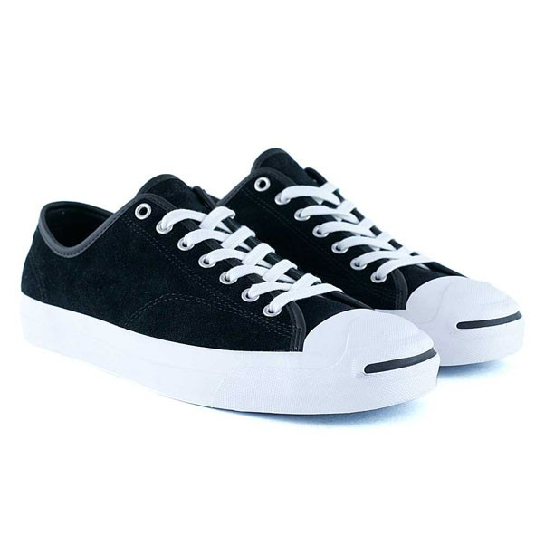 Converse Cons x Polar Skate Co Jack Purcell Pro Suede Black Black White  Skate Shoes aa491a8e1