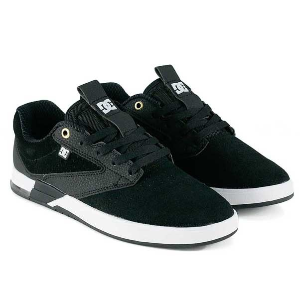 DC Wolf S By Kalis Black White Skate Shoes