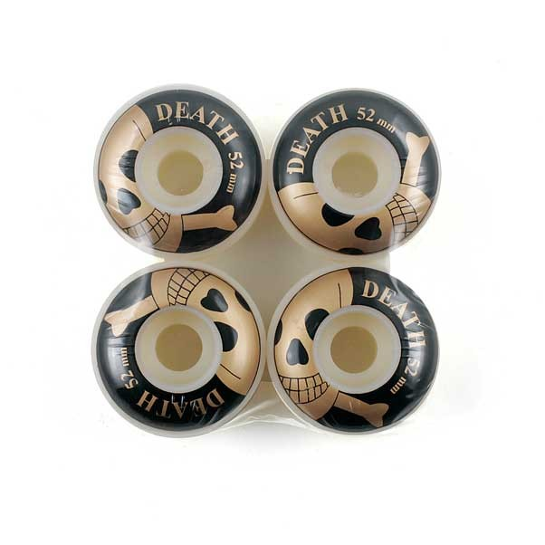 Death Black/Gold 52mm Skateboard Wheels