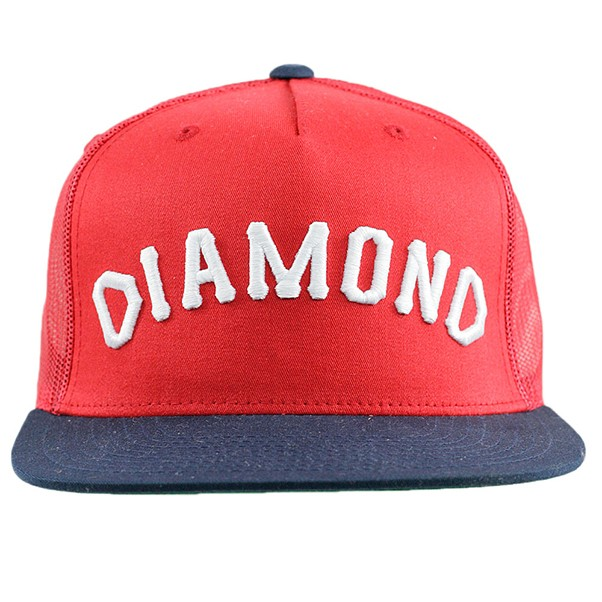 Diamond Supply Co Arch Snapback Hat Red