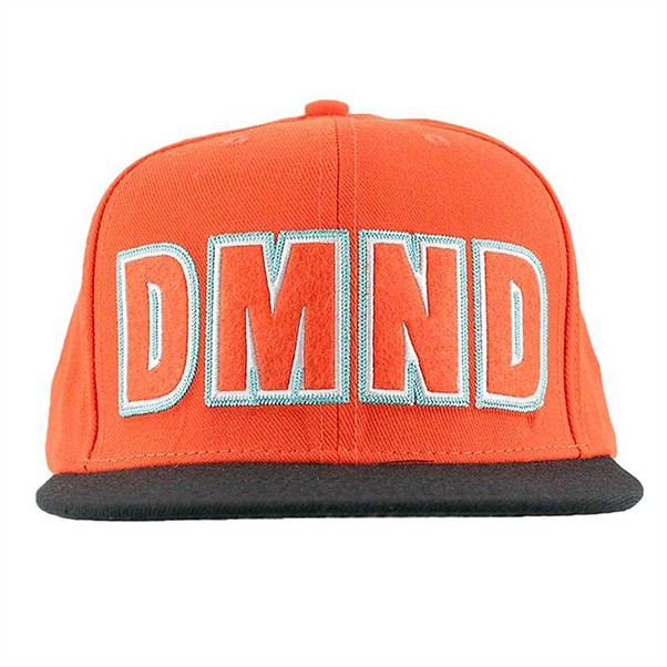 Diamond Felt Embroidered Snapback Orange