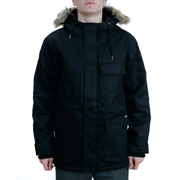 Dickies Elmwood Duck Parka Jacket Black