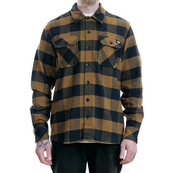 Dickies Sacramento Flannel Shirt Brown Duck