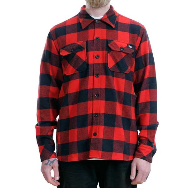 Dickies Sacramento Flannel Shirt Red