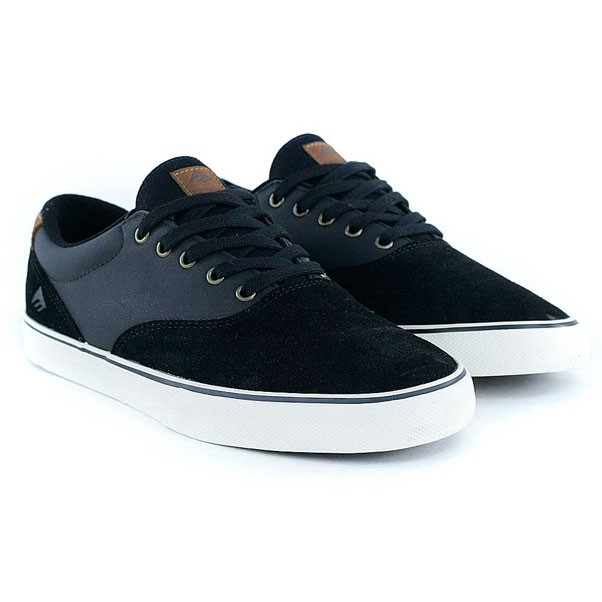Emerica Provost Slim Vulc Black Brown Skate Shoes