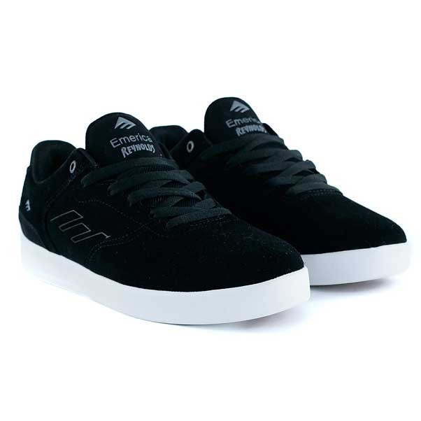 Emerica Reynolds Low Black Silver Skate Shoes