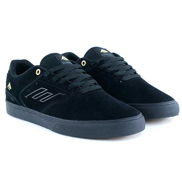 Emerica The Reynolds Low Vulc Black Gold Skate Shoes
