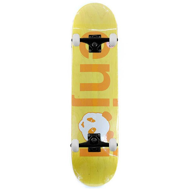 Enjoi Skateboards No Brainer Hyb Yellow Complete Skateboard 7.75""