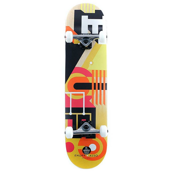 Enuff Skateboards ALSO Factory Complete Skateboard Orange 7.75""