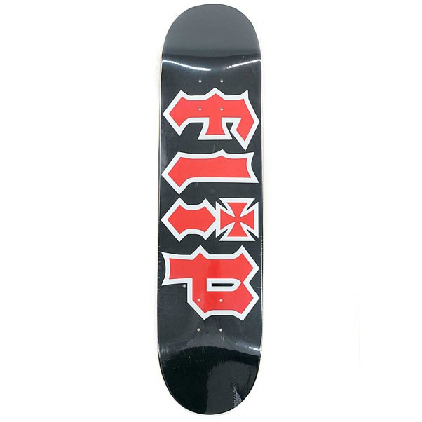 Flip HKD Skateboard Deck Black Red 7.75""