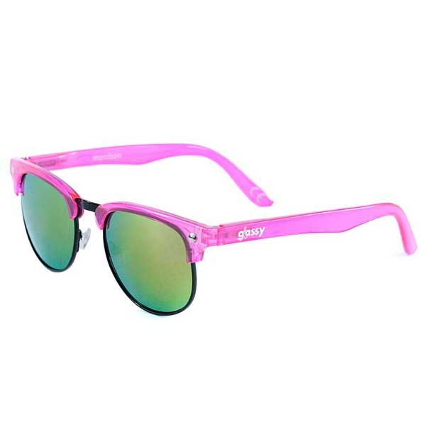 Glassy Sunhaters Morrison Cancer Haters Transparent Pink Pink Mirror Sunglasses
