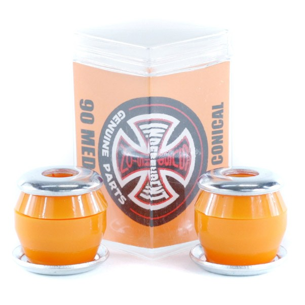 Independent Bushings Indy Skateboard Rubbers Low Conical Medium Hardness 90 Orange