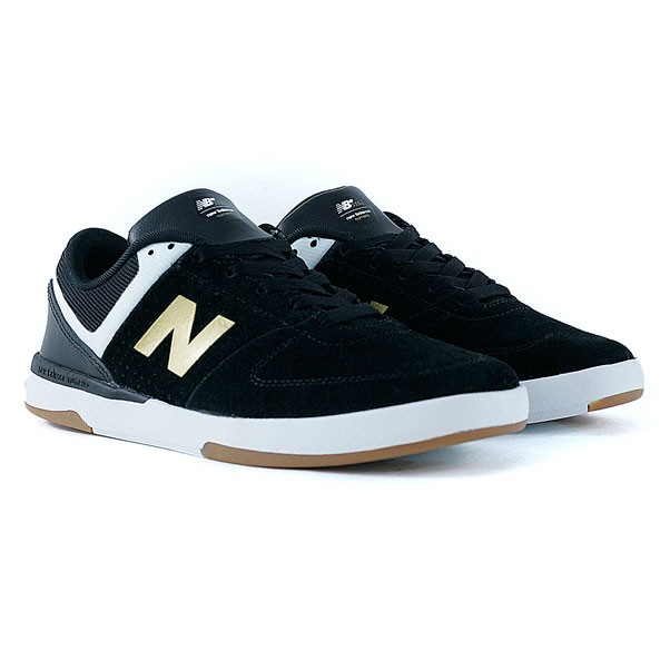 new balance skate shoes. new balance numeric 533 v2 black gold skate shoes -