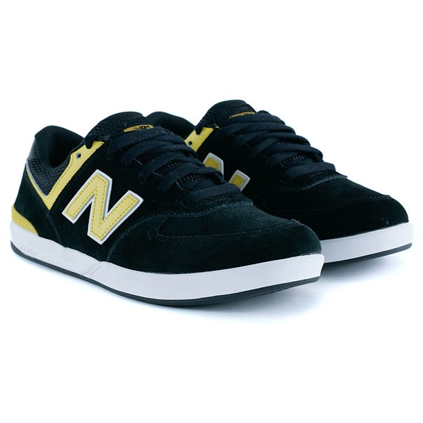 New Balance Numeric Logan S 636 Black Yellow Skate Shoes