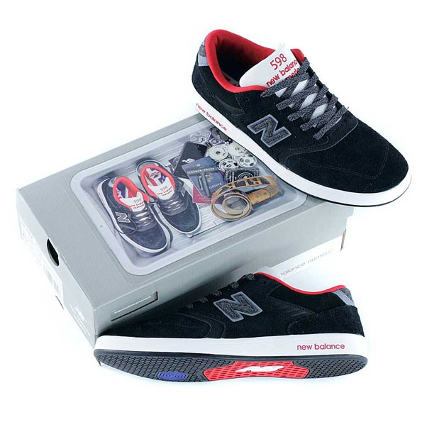 6dacfed663bd New Balance Numeric x Black Sheep 598 Reflective Wool Black Skate Shoes