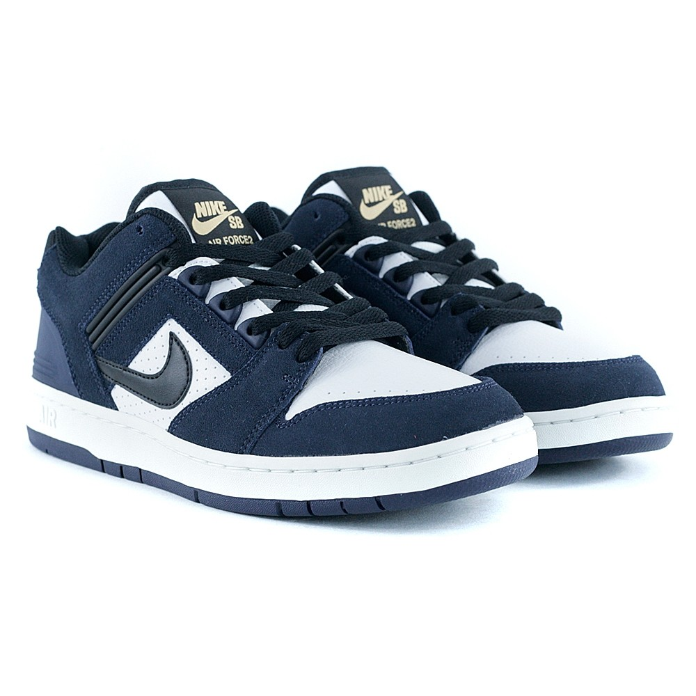 popular brand cheap prices super cheap Nike Sb Air Force II Low Obsidian Black White Celestial Gold Skate Shoes