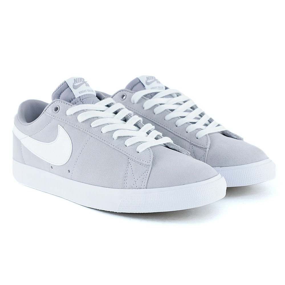 finest selection b1100 4c69a Nike Sb Blazer Low GT Atmospere Grey White Skate Shoes