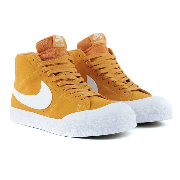 cheap for discount 0b481 4b537 Nike Sb Blazer Zoom Mid XT Circuit Orange White Gum Light Brown Skate Shoes