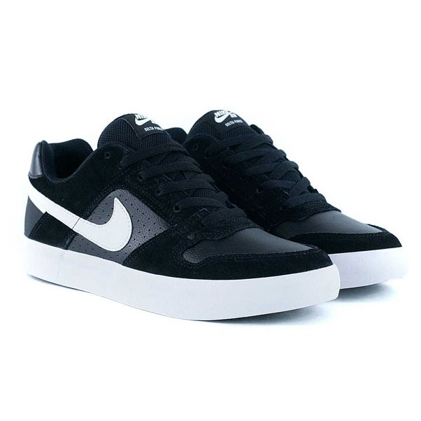 ec6ec695e0ca6e Nike Sb Delta Force Vulc Black White Anthracite Skate Shoes at Black ...