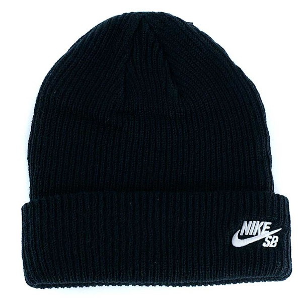 Nike Sb Fisherman Beanie Hat Black White