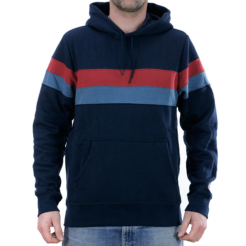 pretty nice 78a36 2641e Nike Sb Icon Stripes Hooded Sweatshirt Obsidian Team Crimson Thunderstorm  at Black Sheep