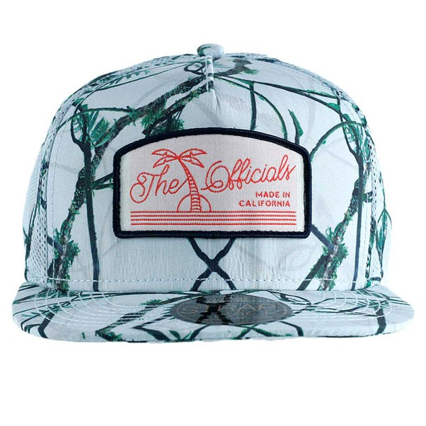 Official Real Tropical Mesh Trucker Snapback Hat White