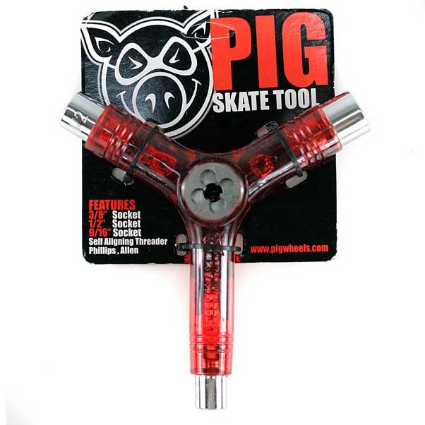 Pig Skateboard Tool Red