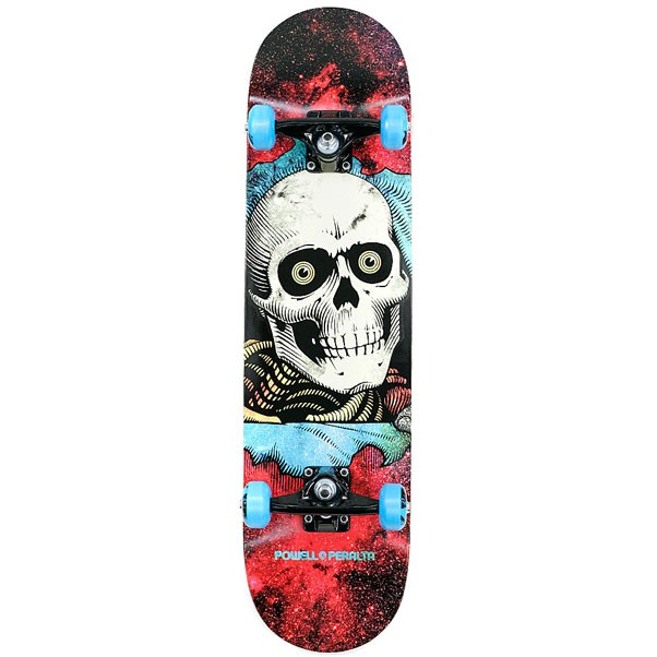 Powell Peralta Cosmic Red Ripper Factory Complete Skateboard Red 8""
