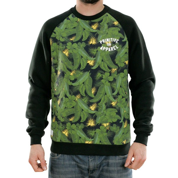 Primitive Delta Crewneck Sweatshirt Green