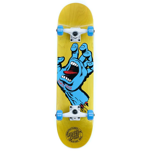 Santa Cruz Screaming Hand Factory Complete Skateboard Yellow 7.5""