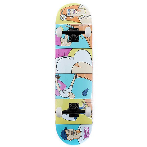 Skate Mental Skateboards Tranny On Tranny Complete Skateboard 8.25""
