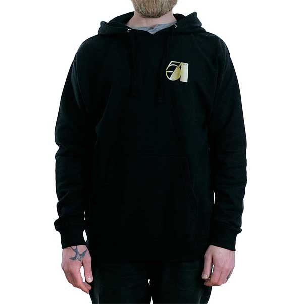 Theories Of Atlantis Studio 51 Pullover Hooded Sweatshirt Black Gold Gradient