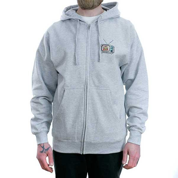 Theories Of Atlantis Icon Zip Hooded Sweatshirt Heather Grey