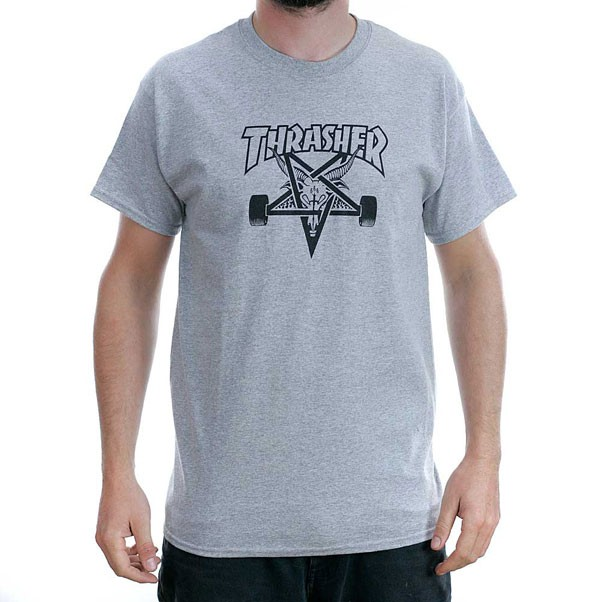 Thrasher Magazine Grey Skategoat T-Shirt