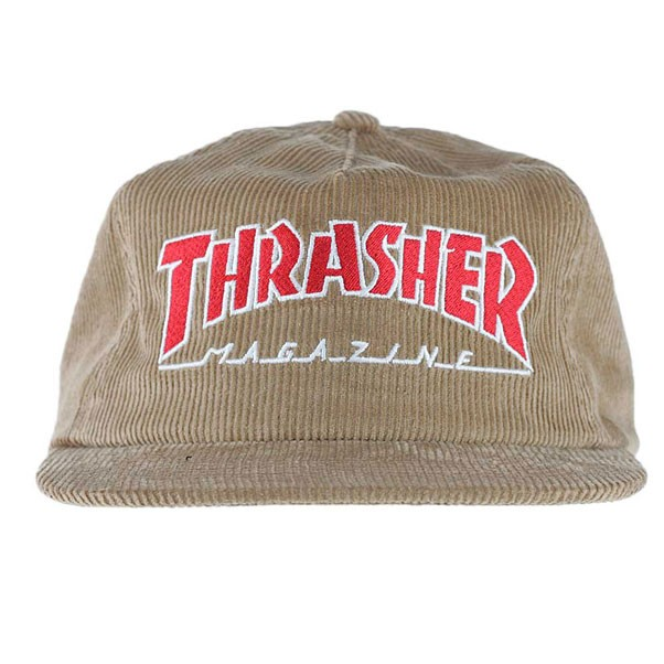 ea42368282c Thrasher Magazine Logo Corduroy Snapback Hat Gold at Black Sheep ...