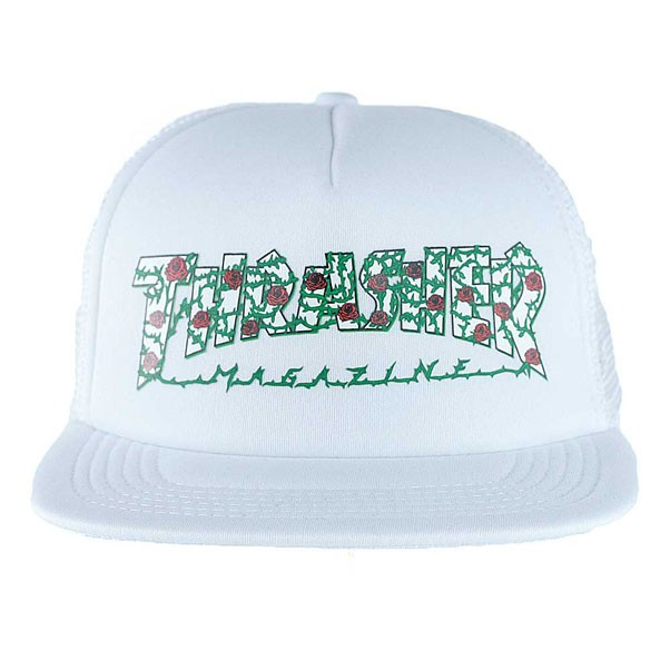 292bf350129 Thrasher Magazine Roses Mesh Trucker Hat White at Black Sheep ...