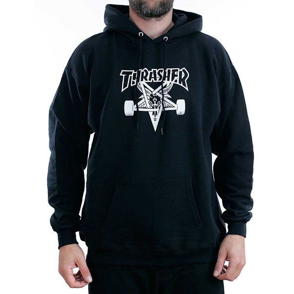 Thrasher Magazine Black Skategoat Hooded Sweatshirt