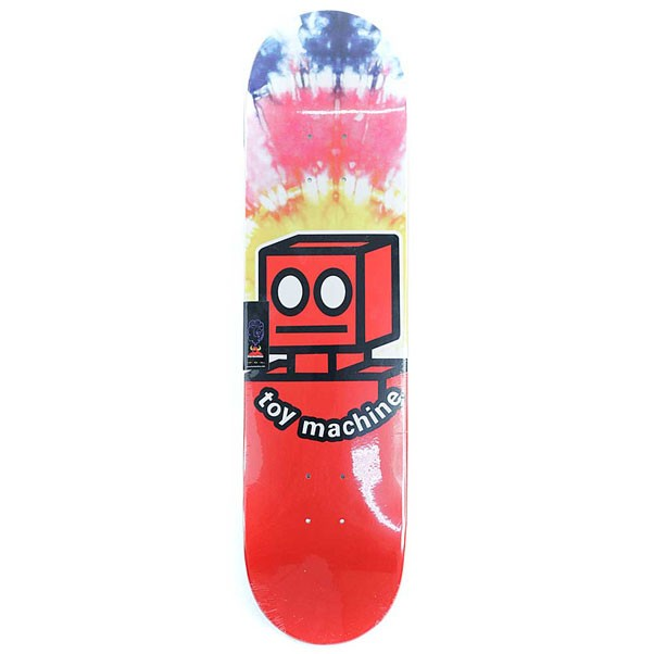 Toy Machine Robot Skateboard Deck Tie Dye 7.875""