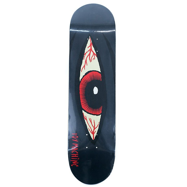 Toy Machine Skateboards Sect Eye Bloodshot Skateboard Deck Black 8""