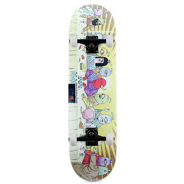 """Toy Machine Skateboards Last Supper Complete Skateboard Yellow 8.375"""""""