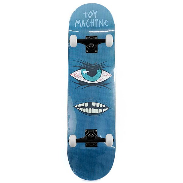 """Toy Machine Skateboards Toothless PP Complete Skateboard Blue 8.25"""""""