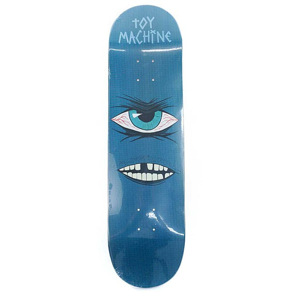 Toy Machine Skateboards Toothless PP Skateboard Deck Blue 8.25""
