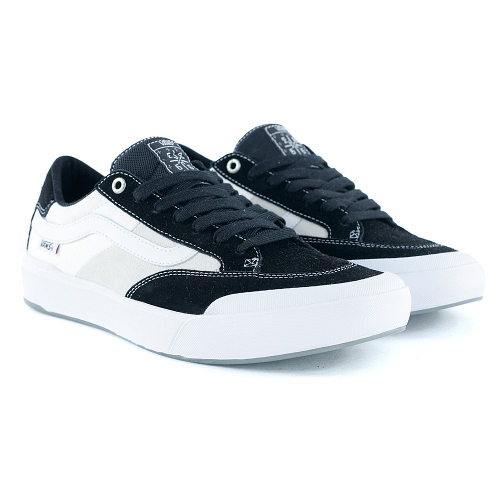 ca86a88b8c1 Vans Berle Pro Black White Skate Shoes at Black Sheep Skateboard Shop