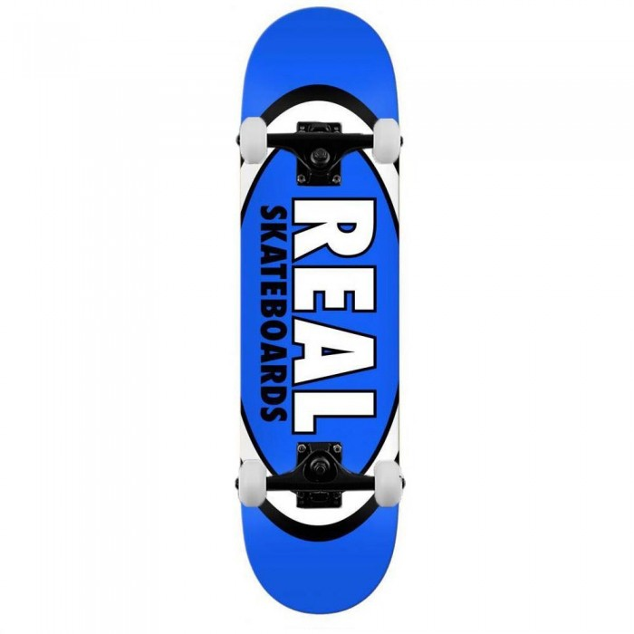 """Real Team Classic Oval Complete Skateboard Blue 8.5"""""""