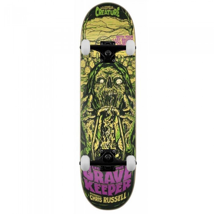 """Creature Russell Wicked Tales Pro Complete Skateboard Green 8.5"""""""