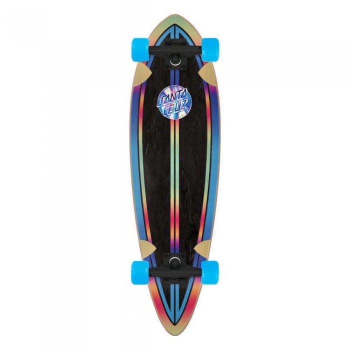 Santa Cruzer Iridescent Dot Pintail Factory Complete Skateboard Multi 33""